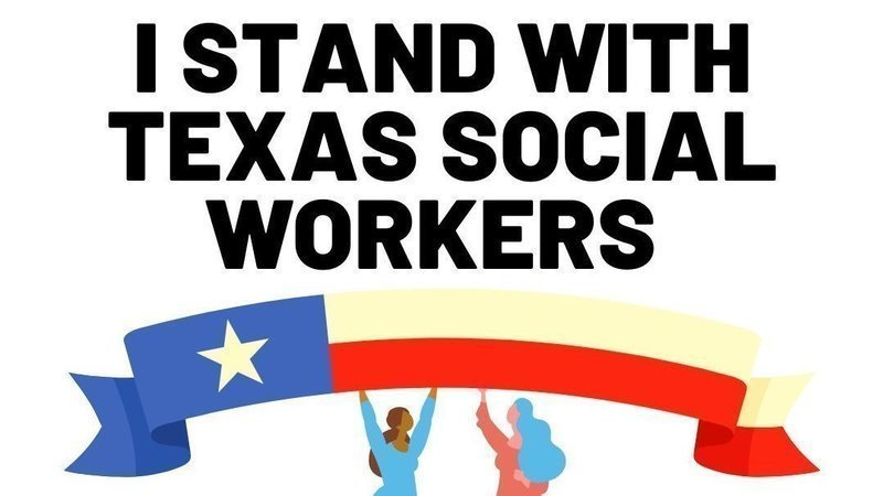 I stand with Texas social workers